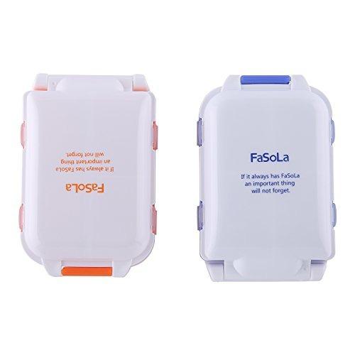 fasola portable pill case box blue