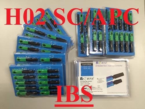 fast conector reutilizável ftth sc/apc verde h-02 c/10 uni