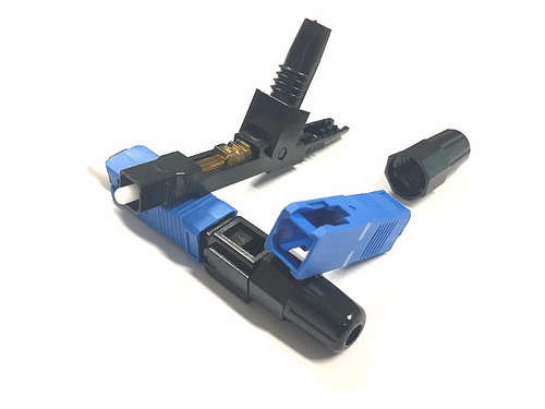 fast conector reutilizável ftth sc/upc azul h-01 c/100 uni