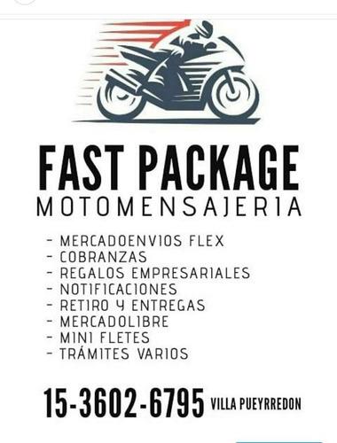 fast package moto mensajeria logistica mercadoenvios flex