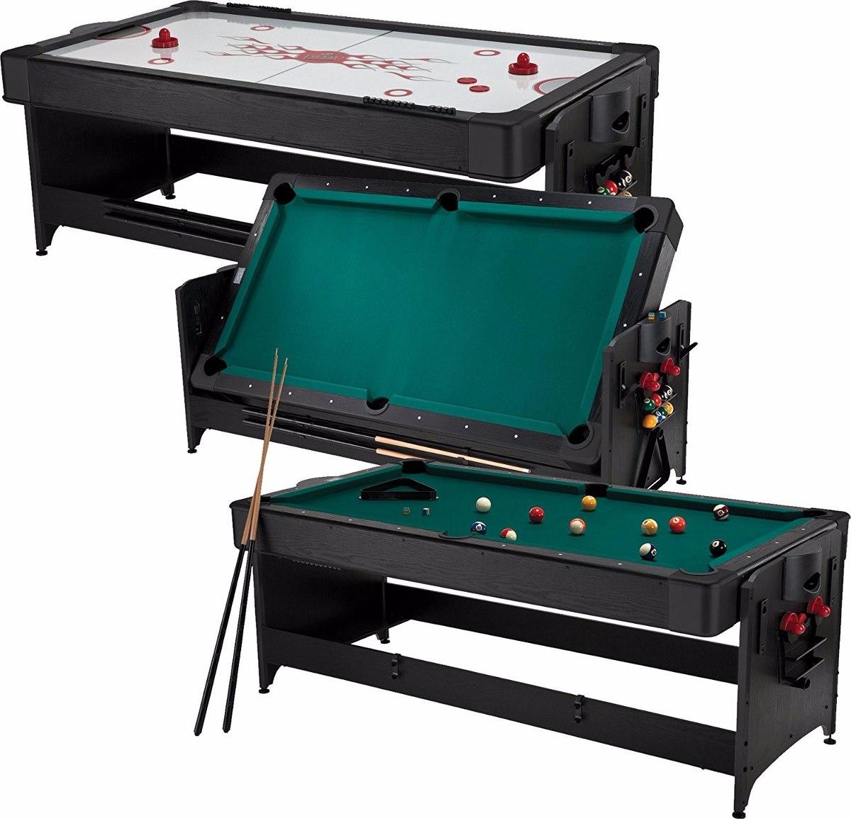 Fat cat 7 ft mesa billar hockey aire juego 2 en 1 rotable for Table 2 en 1