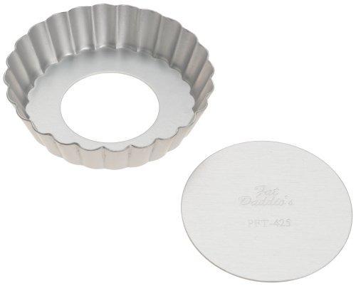 fat daddio aluminio anodizado mini tarta pan, 4 1/4 pulgada