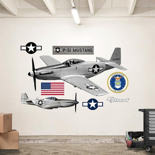 Fathead P-51 Mustang Real Calcomanías ... - $ 419.999 en Mercado Libre