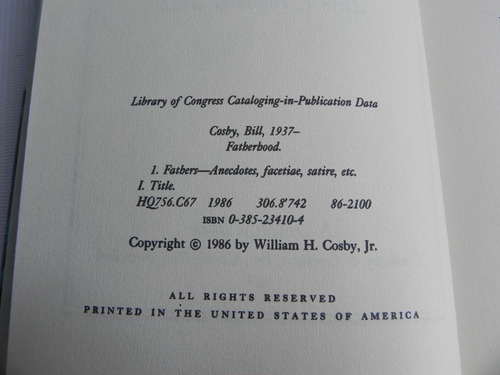 fatherhood bill cosby 1986