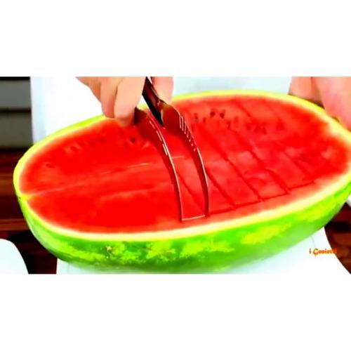 fatiador cortador de melancia, melao e frutas em aço inox