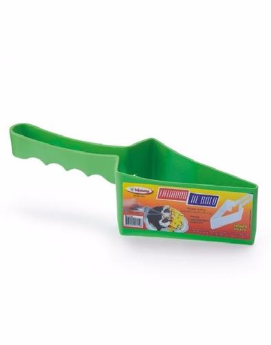 fatiador de bolo triangular cortador de bolo em plastico