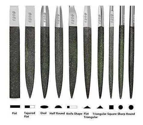 fatmingo 7 premiumgrade diamond needle files set grit120blac