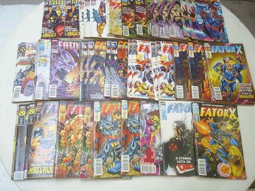 fator-x - vários numeros - editora abril - formatinho - 1997