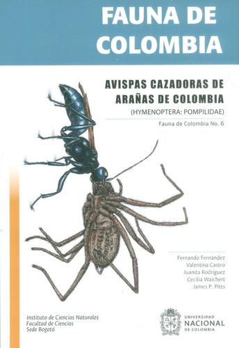 fauna de colombia. avispas cazadoras de arañas de colombia (