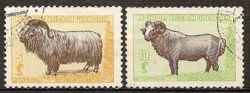 fauna mongolia usados 2 valores