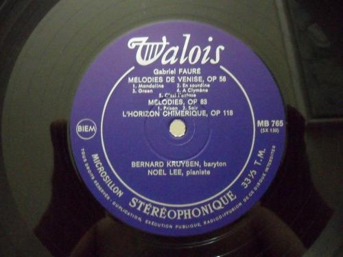 faure melodies kruysen noel lee valois 1965 stereo vr7