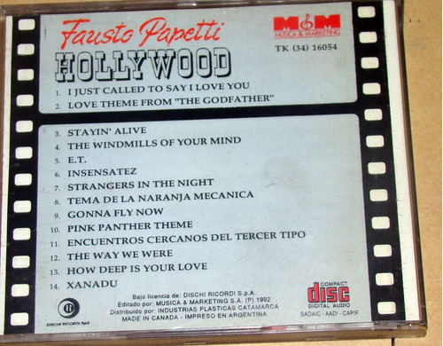 fausto papetti hollywood cd argentino