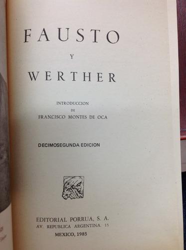 fausto y wether por j. w. goethe