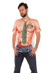 Real Man ImpresaTanL Xmas Men's Faux Camiseta Sexy D2EHI9