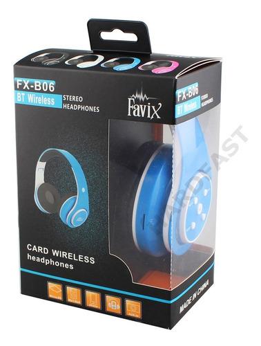 favix fone ouvido original sem fio fx-b06 preto hi-wi fm sd