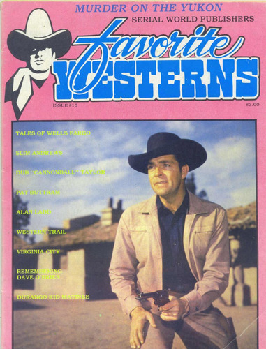 favorite westerns 15 ( kietzer publ.-usa-1983) ótimo estado