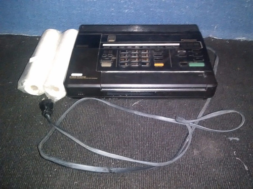 fax panasonic con contestadora 110v con 3 rollos de regalo
