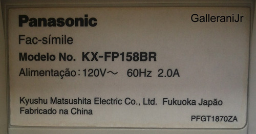 fax panasonic kx-fp158br branco
