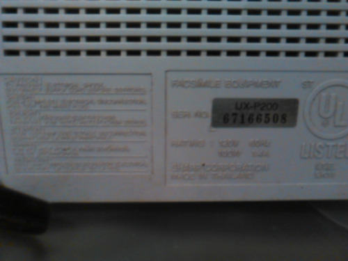 fax telefono sharp ux-p200