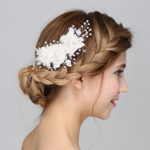faybox clips de pelo hechos a mano de la flor de seda nup