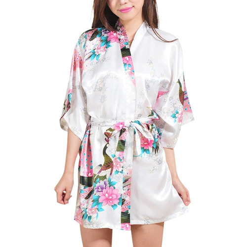 faybox dama de honor pavo real corto kimono túnica boda s