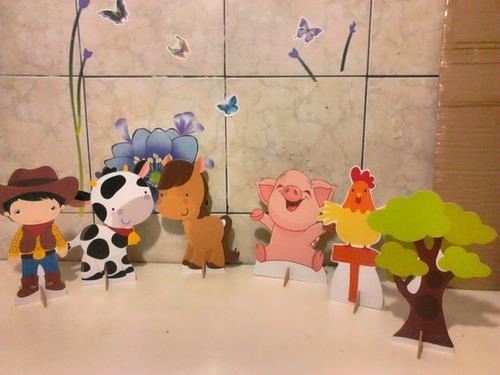 fazendinha  - 10 display de festa infantil de 21 a 30cm