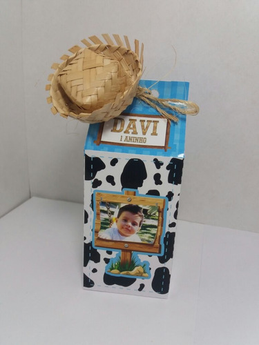 fazendinha caixa milk festa  personalizada barata