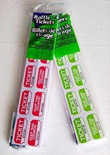 fb 500 boletos de la rifa 250 y 250 verde colores rojo 2 car