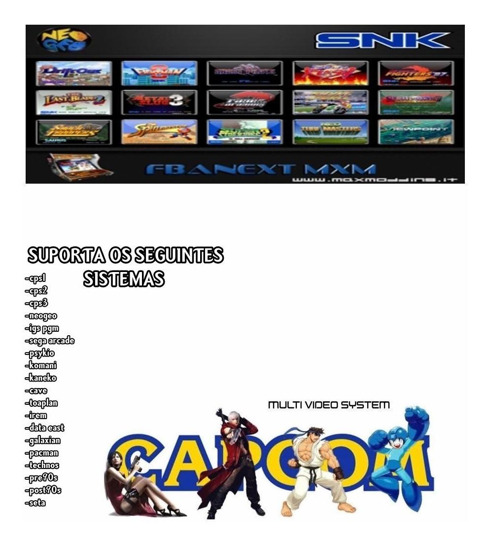 Fba Next Arcade No Ps3 Destravado Cps1,cps2,neogeo Digital