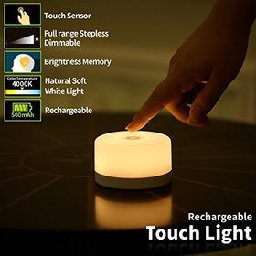 Fc-fancier Luz Regulable, Sensor Tactil Lampara De Cabecera,