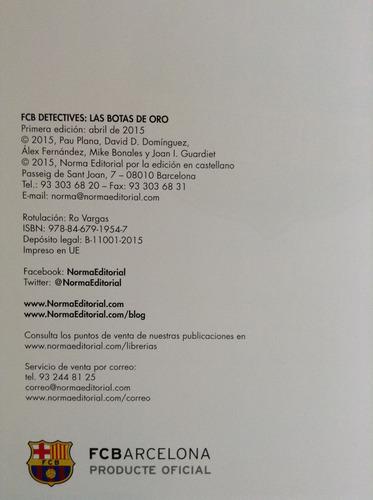 fcb detectives. las botas de oro. fcb barcelona