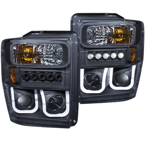 fd f-250 /super duty 08 up projector h.l halo u bar  black