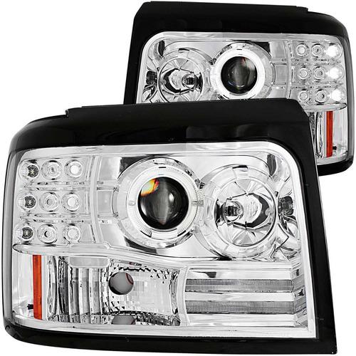 fd f150/f250/ bronco 92-96 projector halo hl chrome completo