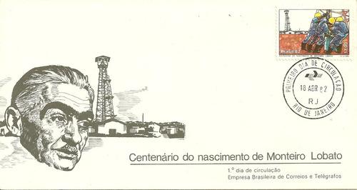 fdc-248 1982 centenário monteiro lobato 1ºdia-rio de janeiro