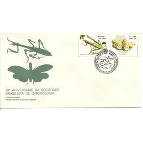 Fdc-425 1987 Insetos Louva-adeus Jequitiranabóia Entomologia