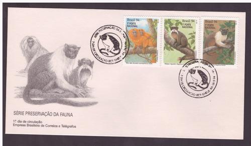 fdc-616 1994 macacos preservação da fauna cbc ilhéus-ba