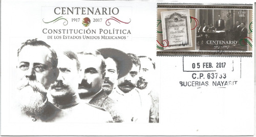 fdc centenario. de la constitucion politica de mexico 2017-4