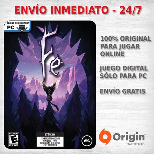 fe pc juego pc origin digital original entrega ya