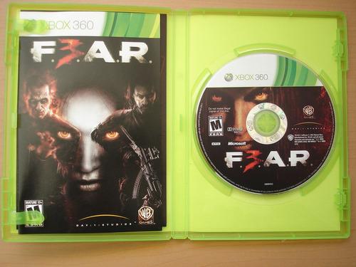 f.e.a.r 3 fear para xbox 360 completo rtg +++++