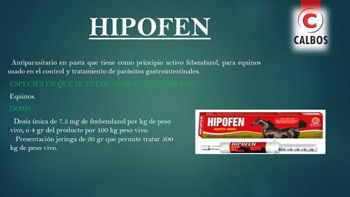 febendazol hipofen pasta x 20 gramos lab calbos