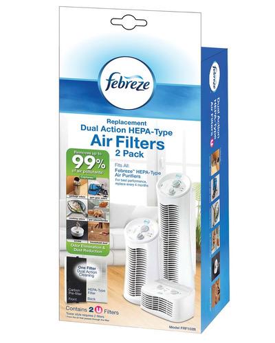 febreze frf102b reemplazo de doble acción de filtro, 2-pack