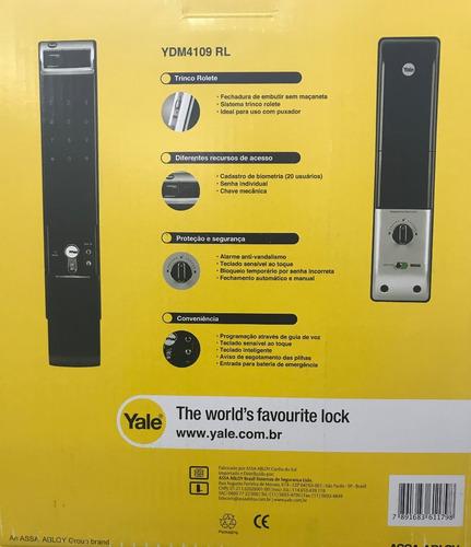 fechadura biométrica yale ydm 4109rl rolete la fonte