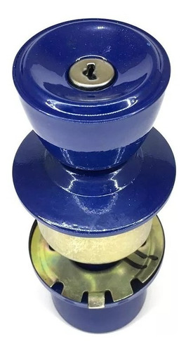 fechadura cilindrica tulipa 90mm azul p/ divisórias