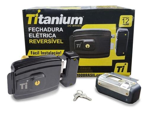 fechadura elétrica reversível máxima segurança titanium-5412