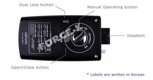 fechadura eletrônica orion un-325s com 2 chaveiro/ 2 adesivo