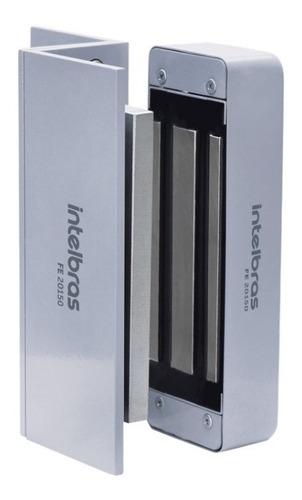 fechadura eletroimã intelbras eletrônica fe-20150 12v prata