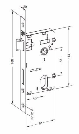 fechadura externa 40mm 3f 740e117 cromada porta de madeira