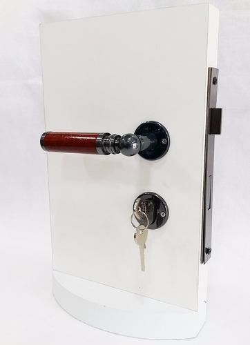 fechadura externa 55mm porta madeira fama maçaneta mogno