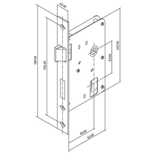 fechadura interna soprano pali roseta quadrada cromada 40mm