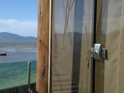 fechadura jbm porta de vidro correr com chave tetra - 20cm